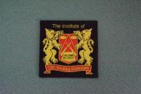 Metal Bullion Badge (9.5cm square) (Large)