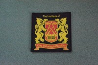 Woven Cloth Badge (9.5cm square) (Large)