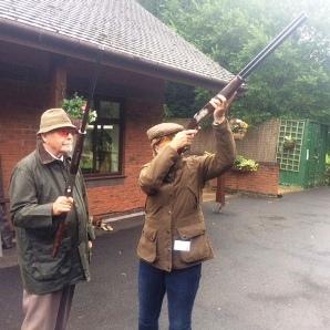 Double gunning practice run