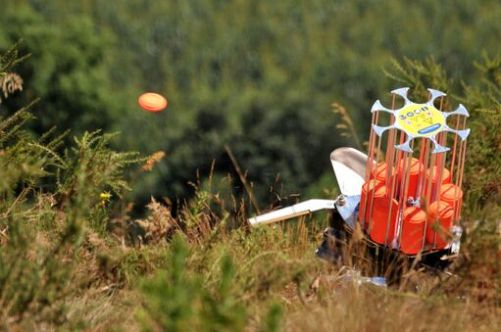Clay pigeon shooting Trap Orange Clays