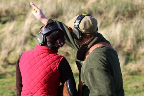 lady clay pigeon shooting lessons