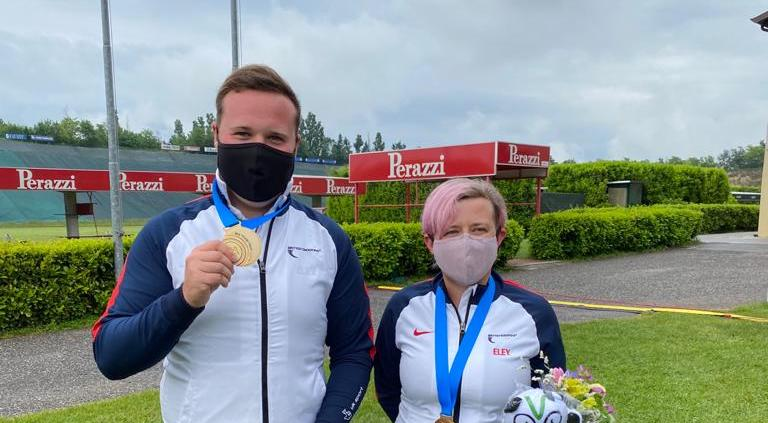 Gold In Mixed Trap Pairs at the ISSF Lonato World Cup